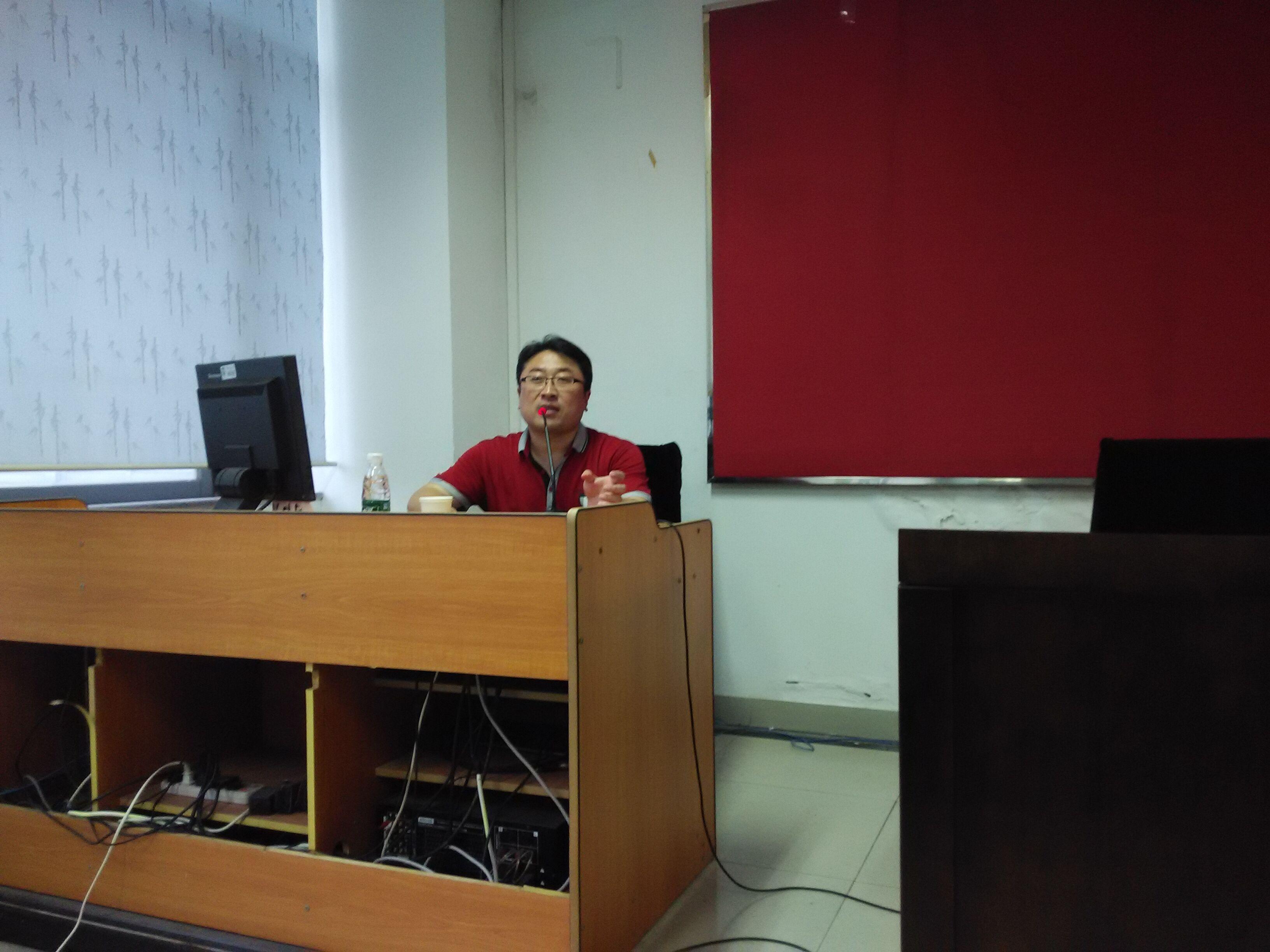 就业指导中心于林平老师为我院党校学员授课
