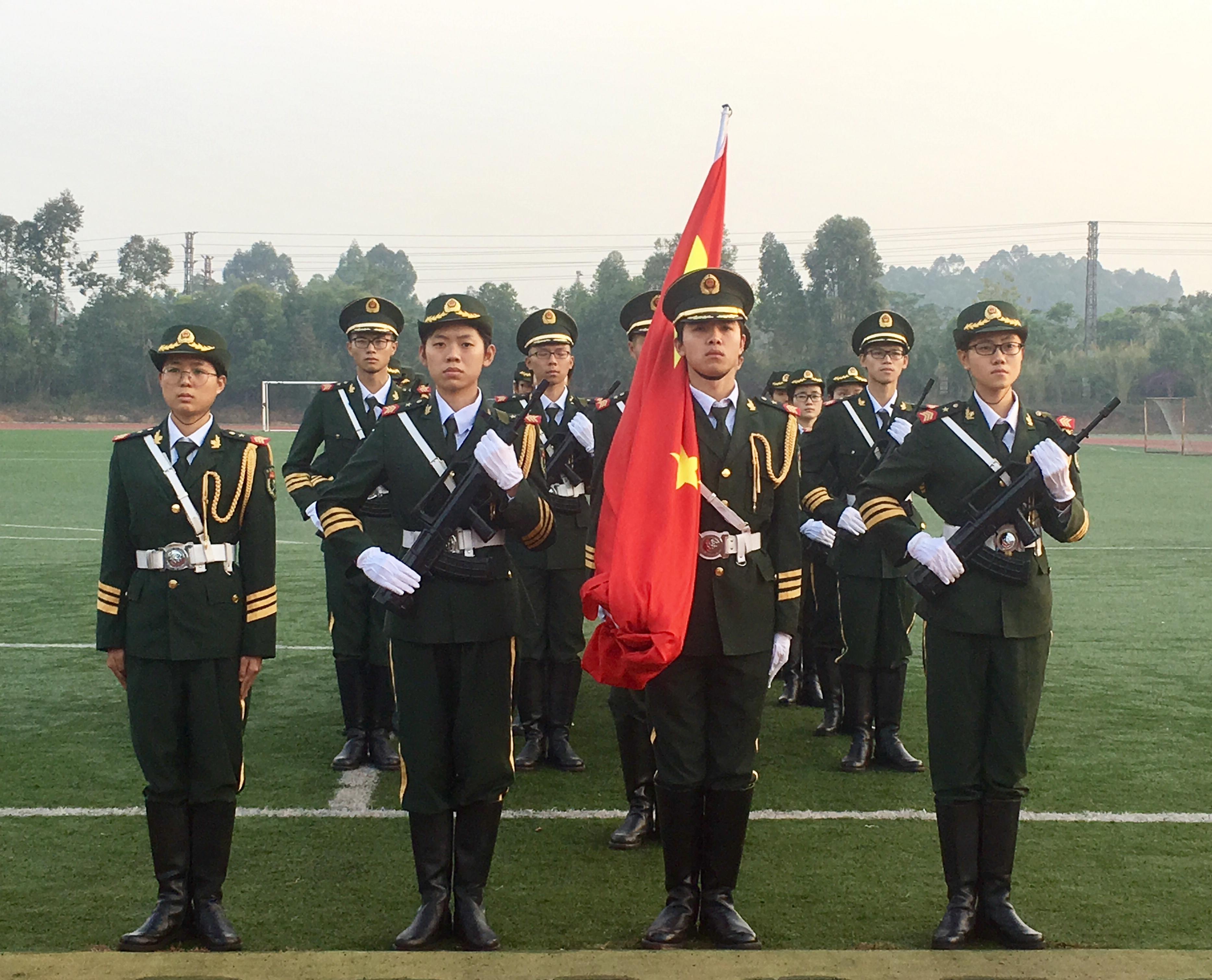 職業教育學院師生參加本學期第二次升旗儀式