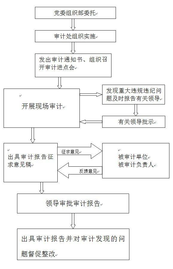学校有关部门负责人经济责任审计工作流程图