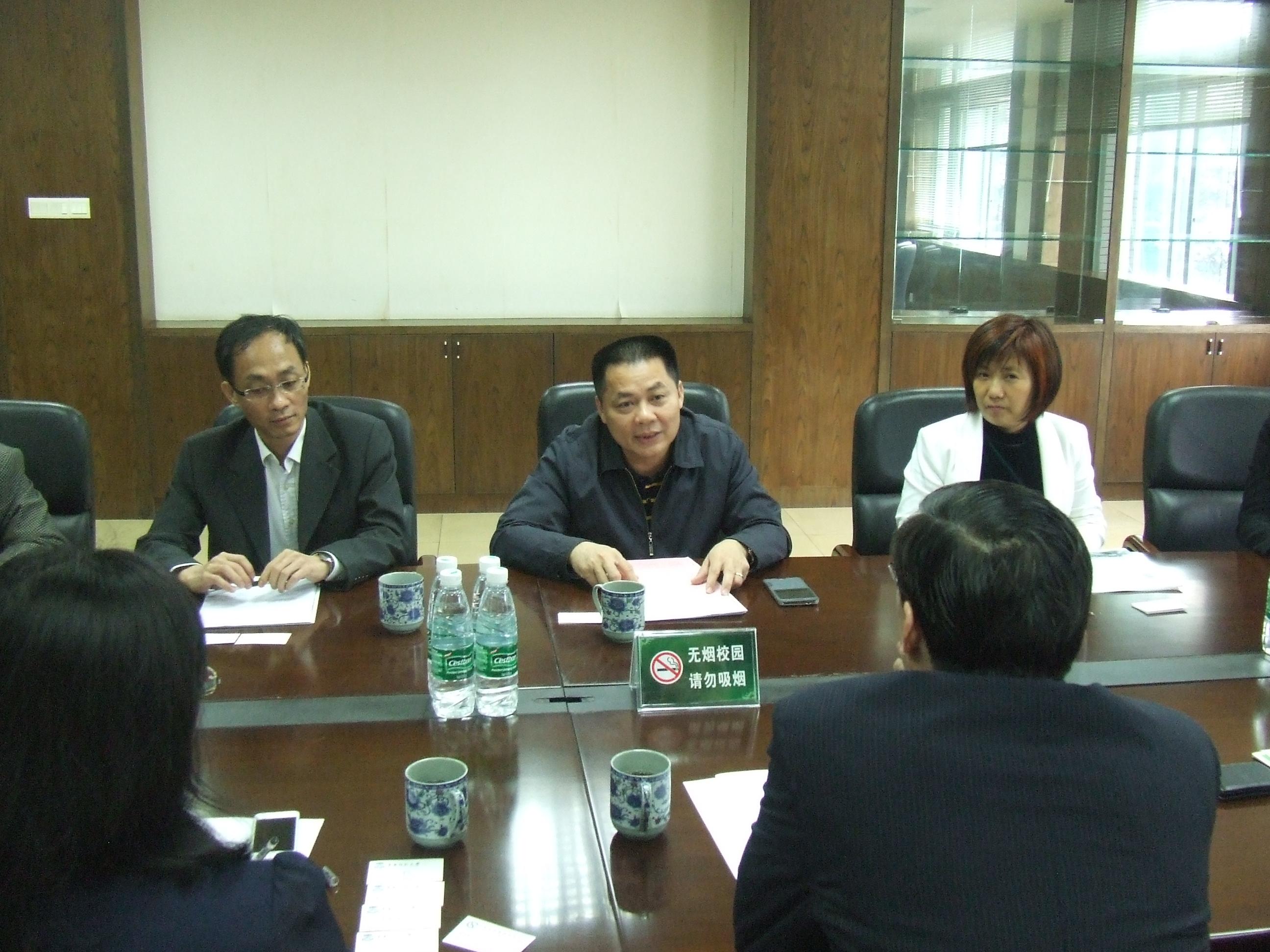 中国留学服务中心程家财副主任一行访问我校南海校区