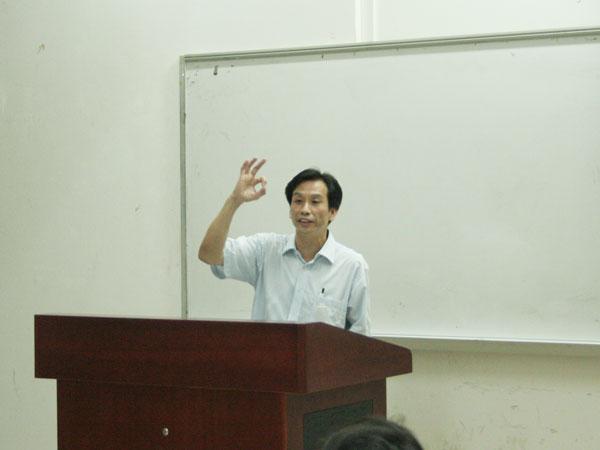 广州市羽毛球管理中心谢有明副主任为我院学生举办讲座