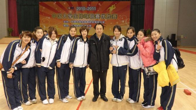 我校女子排球队荣获2010-2011中国大学生排球联赛优胜赛第八名