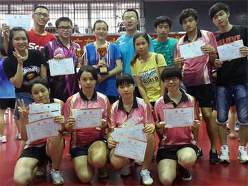 我校在广东省大学生乒乓球锦标赛上获2金1银3铜