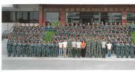 旅游管理系2011届新生军训合影