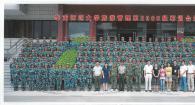 旅游管理系2012届新生军训合影