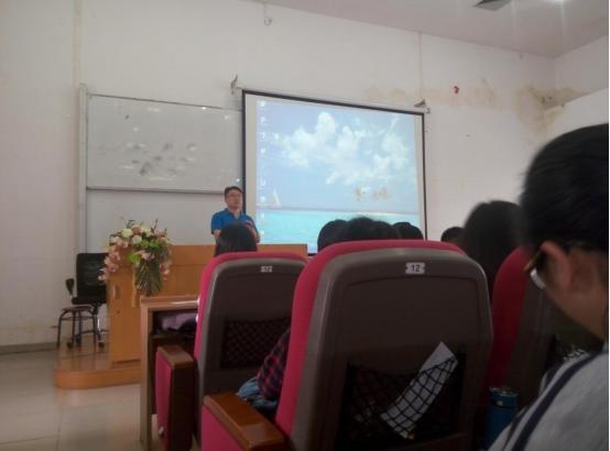 校就业指导中心于林平老师为入党积极分子联合培训班授课